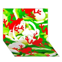 Box of Frogs  Peace Sign 3D Greeting Card (7x5)