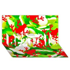 Box of Frogs  BEST SIS 3D Greeting Card (8x4)