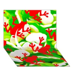 Box of Frogs  Circle 3D Greeting Card (7x5)