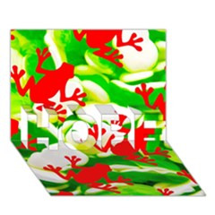 Box of Frogs  HOPE 3D Greeting Card (7x5)