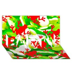 Box of Frogs  PARTY 3D Greeting Card (8x4)
