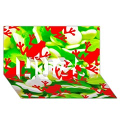 Box Of Frogs  Hugs 3d Greeting Card (8x4)