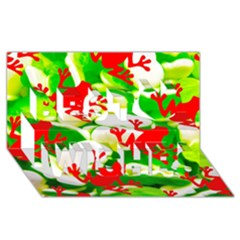 Box of Frogs  Best Wish 3D Greeting Card (8x4)