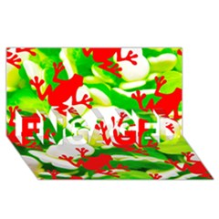 Box Of Frogs  Engaged 3d Greeting Card (8x4)