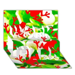 Box Of Frogs  Work Hard 3d Greeting Card (7x5)