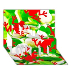Box of Frogs  Get Well 3D Greeting Card (7x5)