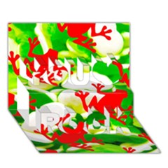 Box of Frogs  You Rock 3D Greeting Card (7x5)