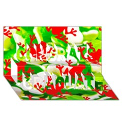 Box Of Frogs  Congrats Graduate 3d Greeting Card (8x4)