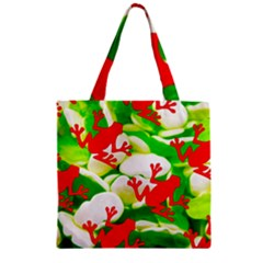 Box Of Frogs  Zipper Grocery Tote Bags