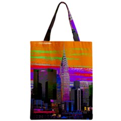 New York City  Chrysler  Zipper Classic Tote Bags