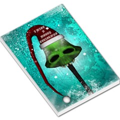 I Wish You A Merry Christmas, Funny Skull Mushrooms Large Memo Pads