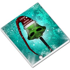 I Wish You A Merry Christmas, Funny Skull Mushrooms Small Memo Pads