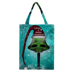 I Wish You A Merry Christmas, Funny Skull Mushrooms Classic Tote Bags