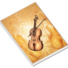 Wonderful Violin With Violin Bow On Soft Background Large Memo Pads