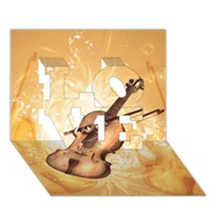 Wonderful Violin With Violin Bow On Soft Background Love 3d Greeting Card (7x5)