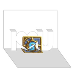 Hearthstone Update New Features Appicon 110715 I Love You 3d Greeting Card (7x5)