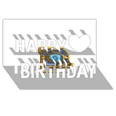 Hearthstone Update New Features Appicon 110715 Happy Birthday 3d Greeting Card (8x4)