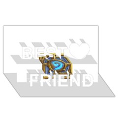 Hearthstone Update New Features Appicon 110715 Best Friends 3d Greeting Card (8x4)