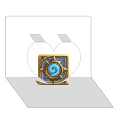 Hearthstone Update New Features Appicon 110715 Heart 3D Greeting Card (7x5)