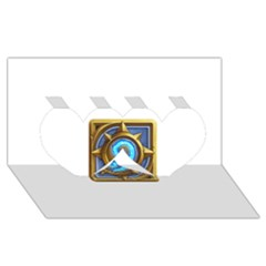 Hearthstone Update New Features Appicon 110715 Twin Hearts 3D Greeting Card (8x4)
