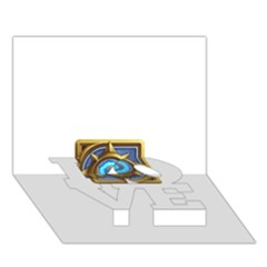 Hearthstone Update New Features Appicon 110715 Love Bottom 3d Greeting Card (7x5)