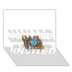 Hearthstone Update New Features Appicon 110715 You Are Invited 3d Greeting Card (7x5)