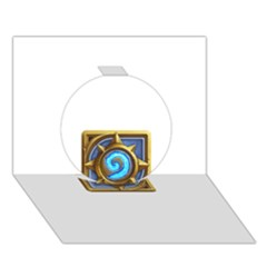 Hearthstone Update New Features Appicon 110715 Circle 3D Greeting Card (7x5)