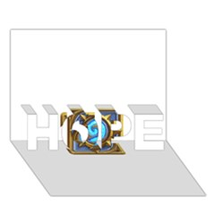 Hearthstone Update New Features Appicon 110715 HOPE 3D Greeting Card (7x5)