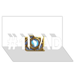 Hearthstone Update New Features Appicon 110715 #1 Dad 3d Greeting Card (8x4)