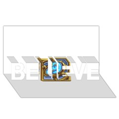 Hearthstone Update New Features Appicon 110715 Believe 3d Greeting Card (8x4)