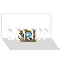 Hearthstone Update New Features Appicon 110715 Sorry 3d Greeting Card (8x4)