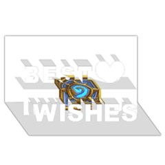 Hearthstone Update New Features Appicon 110715 Best Wish 3D Greeting Card (8x4)