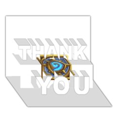 Hearthstone Update New Features Appicon 110715 THANK YOU 3D Greeting Card (7x5)