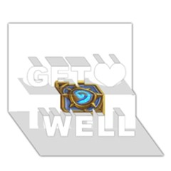 Hearthstone Update New Features Appicon 110715 Get Well 3d Greeting Card (7x5)