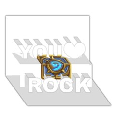 Hearthstone Update New Features Appicon 110715 You Rock 3D Greeting Card (7x5)
