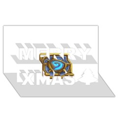 Hearthstone Update New Features Appicon 110715 Merry Xmas 3d Greeting Card (8x4)