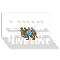 Hearthstone Update New Features Appicon 110715 Laugh Live Love 3D Greeting Card (8x4)