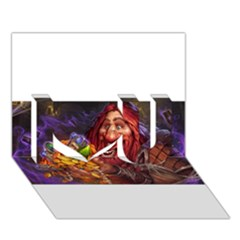 Hearthstone Gold I Love You 3d Greeting Card (7x5)