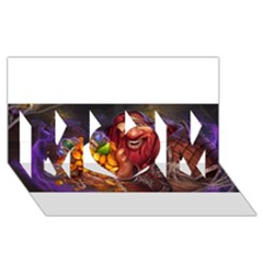 Hearthstone Gold Mom 3d Greeting Card (8x4)