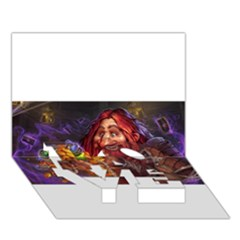 Hearthstone Gold LOVE Bottom 3D Greeting Card (7x5)