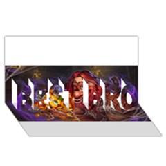 Hearthstone Gold BEST BRO 3D Greeting Card (8x4)