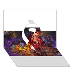 Hearthstone Gold Ribbon 3d Greeting Card (7x5)