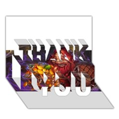 Hearthstone Gold Thank You 3d Greeting Card (7x5)