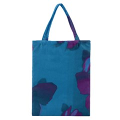 Purple and Turquoise Butterflies Classic Tote Bags