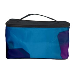 Purple and Turquoise Butterflies Cosmetic Storage Cases