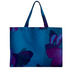 Purple And Turquoise Butterflies Zipper Tiny Tote Bags