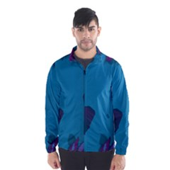 Purple and Turquoise Butterflies Wind Breaker (Men)