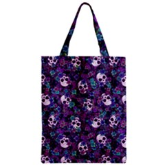 Flowers And Skulls Classic Tote Bag