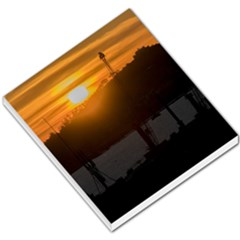 Aerial View Sunset Scene Of Montevideo Uruguay Small Memo Pads