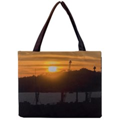 Aerial View Sunset Scene Of Montevideo Uruguay Tiny Tote Bags